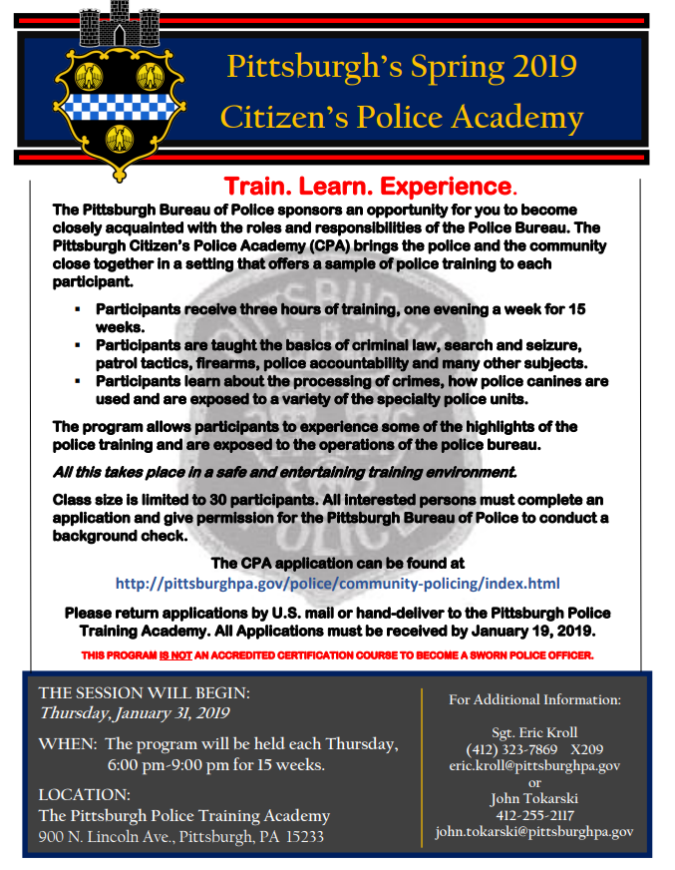 Student Police Academy and Citizen Police Academy Enrollment